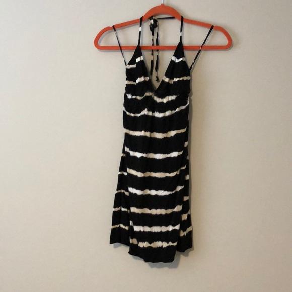 fe8d7a8a3f0c Hard Tail Dresses | Black And White Tie Dye Mini Dress | Poshmark